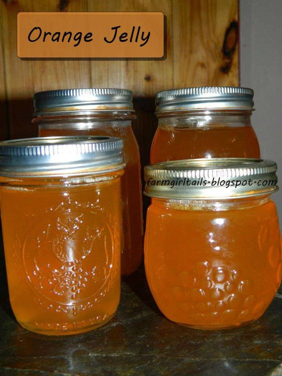 Homemade Orange Jelly