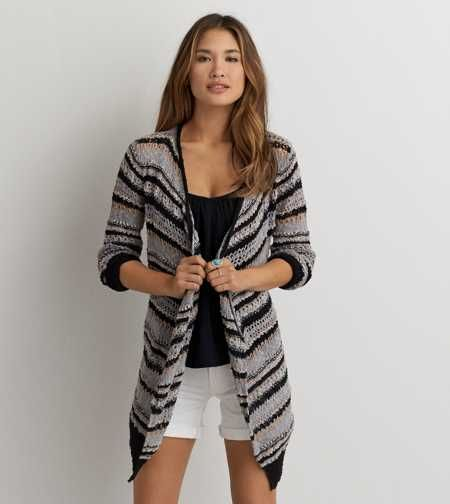 AEO Patterned Open Cardigan - Buy One Get One 50% Off