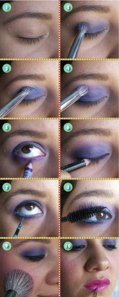 80s Makeup on Pinterest | I was the queen of purple eyeshadow like this!  And the pink lips too~awesome