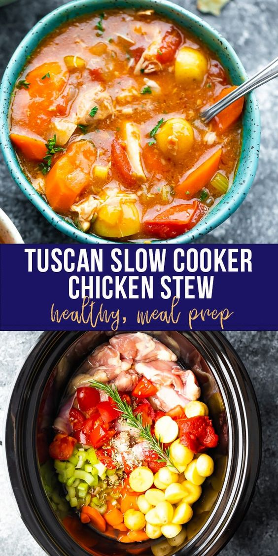 Tuscan Slow Cooker Chicken Stew