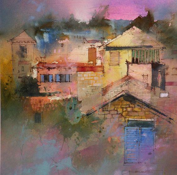 Pintura, dibujo, acuarela, óleo, mixedmedia Obras de John Lovett