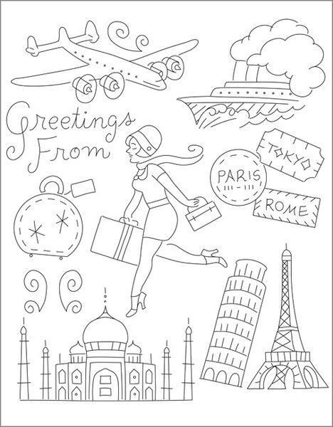 Bon Voyage embroidery patterns