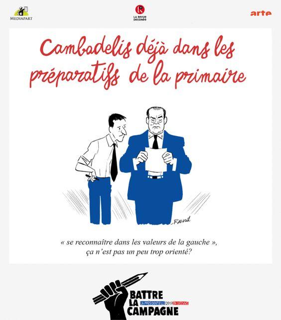 Toute l'actualité de la campagne électorale, sous le regard graphique et décalé de notre équipe de dessinateurs. Un partenariat Mediapart, La Revue dessinée et Arte.