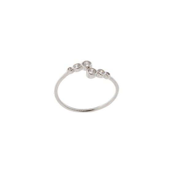 14k Gold Plated Sterling Silver Bubble Bypass Ring
