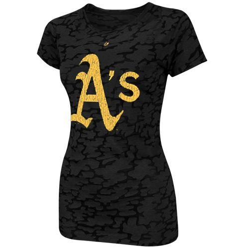 Oakland Athletics Ladies Pure Victory Premium Burnout T-Shirt