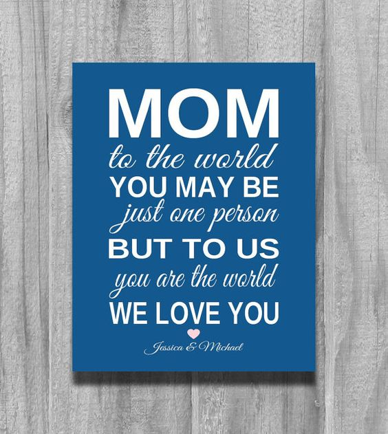 Gift For Mom Personalized Birthday GIFT From Children For