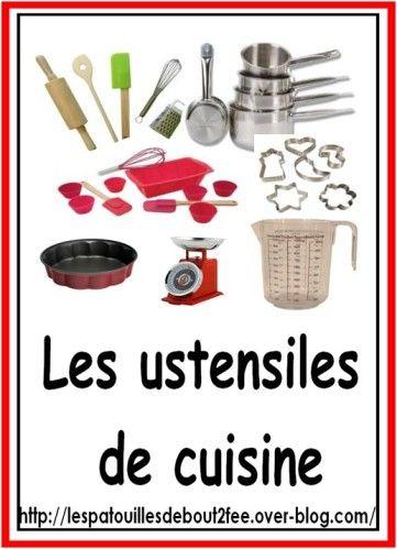 Alimentation un peu de vocabulaire alimentation - Liste ustensiles de cuisine ...