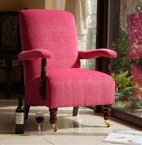 £558 Yeats Pink upholstered in Ross Fuschia fabric  H 95cm x W 76cm x D 80cm