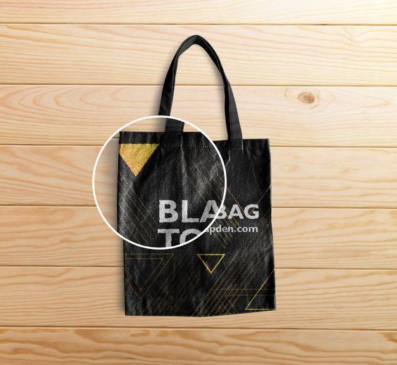 Download Free Black Tote Bag Mockup Psd Template 2 Black Tote Bag Black Tote Tote Bag