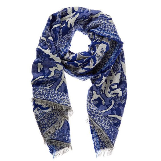 Seed Abstract Jacquard Scarf