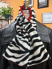 DIY Style :: Projects :: Fashion Sewing Projects :: Pull Thru Fleece Scarf: