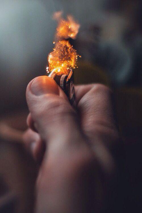 Fast shutter speed photo of a lighter.