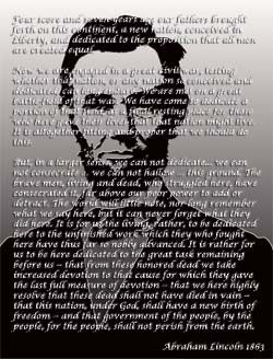 Lincoln's Gettysburg Address http://www.american-history-fun-facts.com/gettysburg-address.html