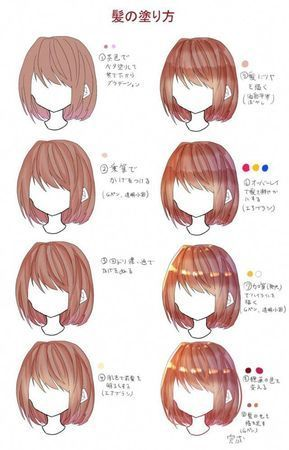 Paint It Beautifully How To Make Hair With Crysta Drawing Book In 2020 Digital Art Anime Anime Art Tutorial Anime Drawings Tutorials
