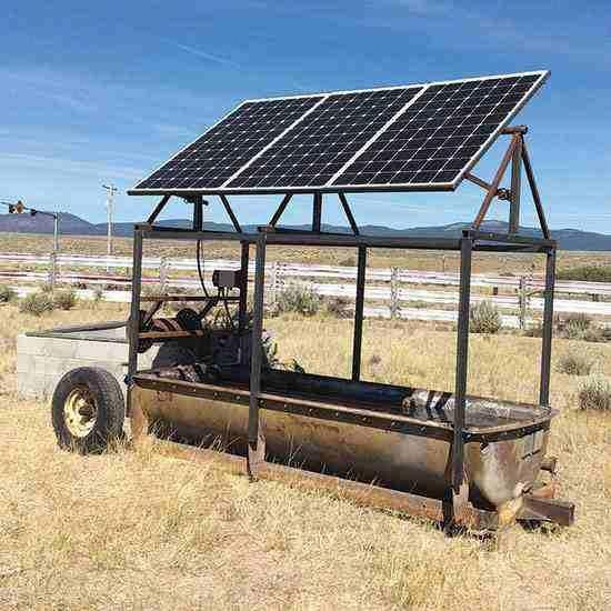Portable Solar Powered Livestock Waterer Tools Grit Magazine In 2020 Solar Power Energy Solar Panels Solar