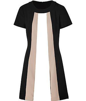 RACHEL ZOE  Black-Multi Crepe Andi Dress