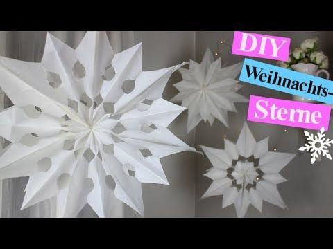 Sterne Basteln Mit Papier Butterbrottüten Zu Weihnachten