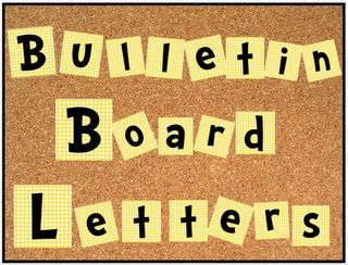 Free bulletin board alphabet and numbers set!  Cute, Cute, Cute...