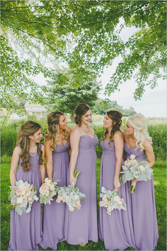 Lavender bridesmaid dresses pictures