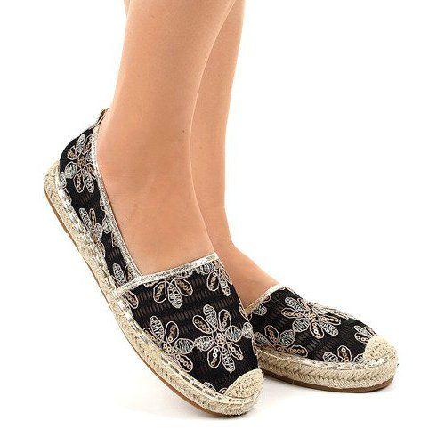 Mckey Niebieskie Espadryle W Kwiaty Espadrilles Shoes Flat Espadrille