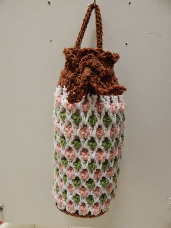 Free Crochet Patterns For Grocery Bags : Free Pattern for Crochet Plastic Grocery Bag Holder by ...