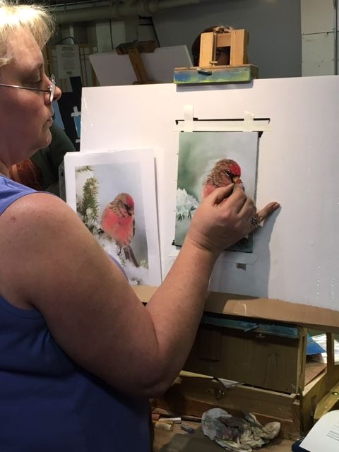 Student Work At An Amanda Houston Workshop Beginning Watercolor
