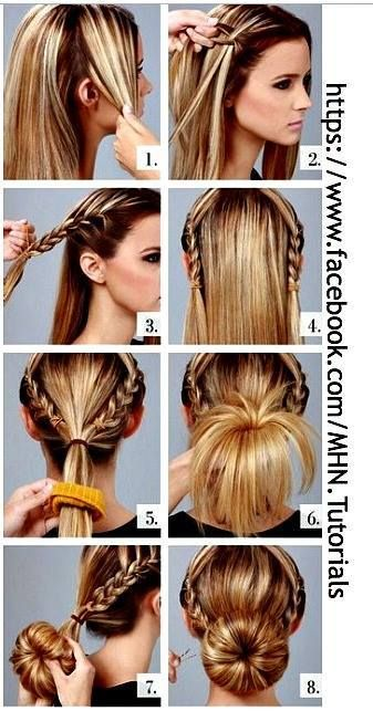 Cool Cute Hairstyles Donuts And Hairstyles On Pinterest Hairstyles For Women Draintrainus