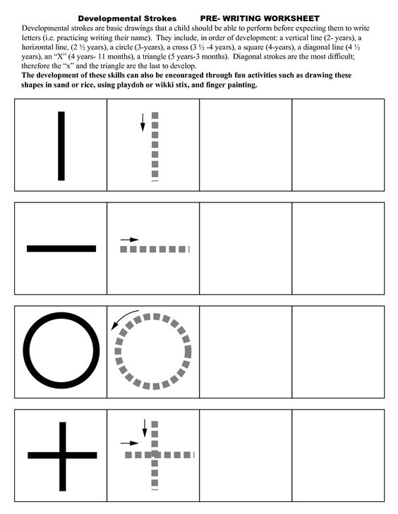 Pre Writing Strokes Worksheets | edukacyjne | Pinterest | Posts ...