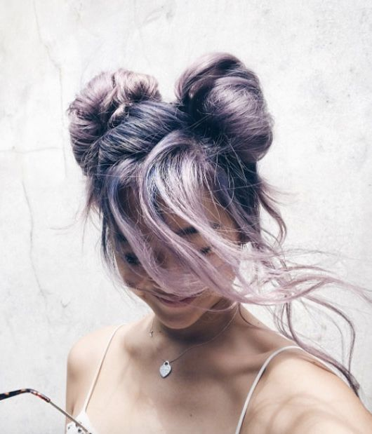 hairstyles to try in 2020 , purple hair color space buns lichipan on ig | soyvirgo.com
