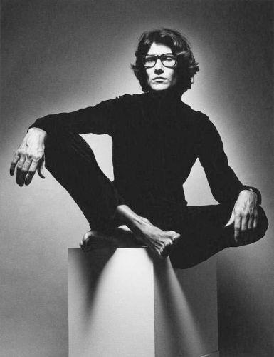 Yves Saint Laurent (1936-2008) French fashion designer.