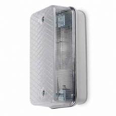 Astra Mains IP65 Bulkhead c/w Photocell Low Energy TC-S 9W G23 Grey/Clear JCC Lighting JC40010CL