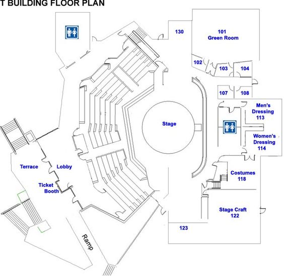 Floor plan template for theatre modern small house plans for Spanish bungalow floor plans