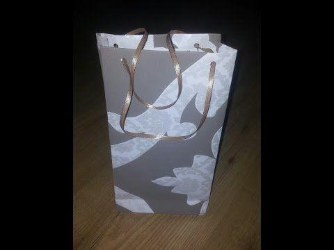 Cómo hacer una bolsa de regalo con papel | Manualidades