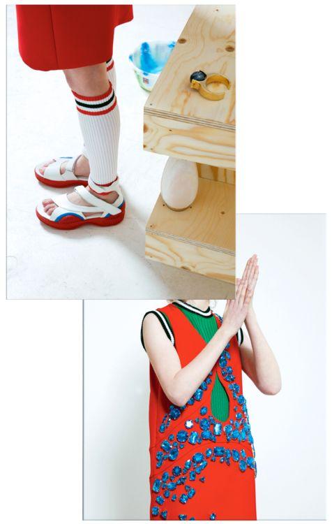 Prada SS14 styled by Elizabeth Black photographed bySohrab Golsorkhi for Tank Magazine