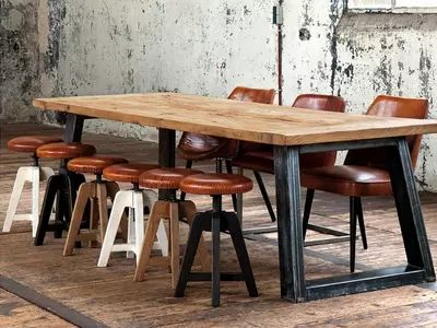 美式鄉村現代鐵藝家具複古做舊餐桌loft風格茶幾咖啡桌畫桌寫字台-淘寶網