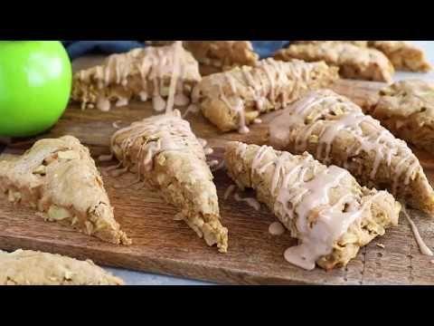 Apple Scones With Spiced Glaze Recipe Apple Scones Skinny Taste Recipes Apple Recipes