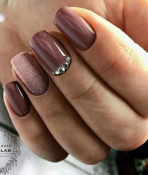 55 Trendy Manicure Ideas In Fall Nail Colors Fall Manicure Purple Nails Nail Colors