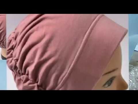 طريقه عمل التربون البندانه طاقيه للشعر تتلبس تحت الحجاب طريقه سهله جدااااا وتنفع هديه لعيد الام Hijab Fashion Summer Blouse Neck Designs Turban Headband Diy
