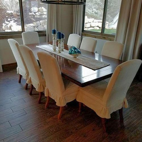 Solid Cherry Wood Dining Table With 8 Chairs Wood Dining Table