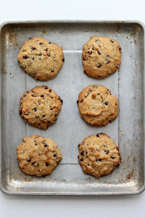 paleo chocolate chip cookies. SO easy to make. Unlike other recipes that require many different ingredients, this only require a few and is delicious!