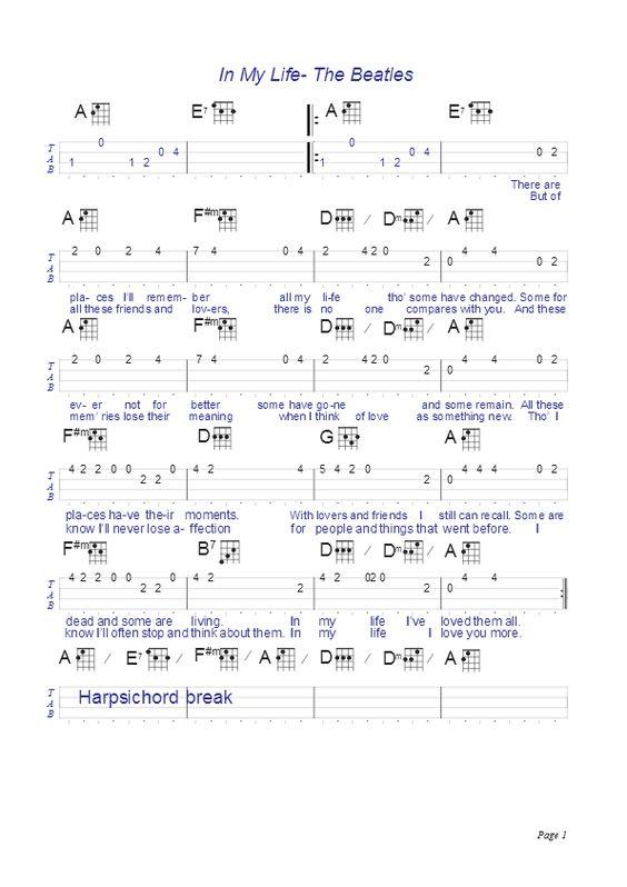 Ukulele : ukulele tabs the beatles Ukulele Tabs in Ukulele Tabs The Beatlesu201a Ukulele Tabs The ...