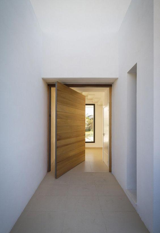 Wood front door.