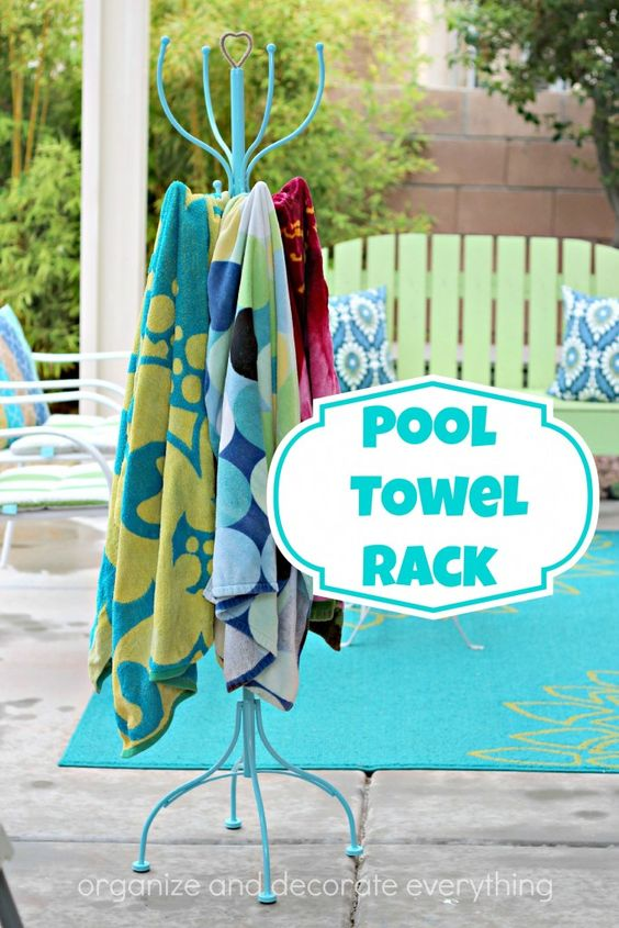 Pool Towel Rack: