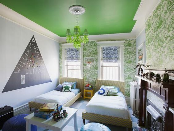 Bold + Playful Paint Colors for Kids' Rooms (http://blog.hgtv.com/design/2014/05/26/bold-playful-paint-colors-for-kids-rooms/?soc=pinterest)