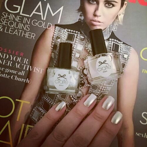 Ciaté London in Fit For A Queen is free with this month's Marie Claire UK (plus a speedy topcoat too). It's a pretty white silver with a metallic hue. Perfect timing for Winter months and the festi...