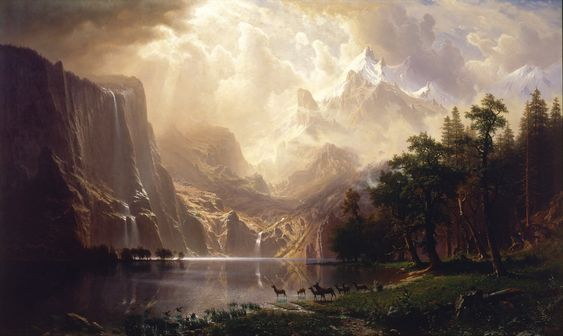 Among the Sierra Nevada Mountains, California (1868), by Albert Bierstadt, Smithsonian American Art Museum, Washington, DC.