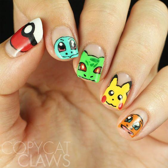 Pokemon Go Nail Art