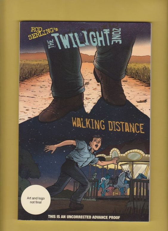 Rod Sterling Twilight Zone Graphic Novel Uncorrcted Advance Proof Walker Books