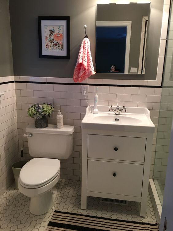 Ikea hemnes bathroom vanity bathroom remodel pinterest toilets vanities and basement bathroom - Bathroom cabinets for small spaces plan ...