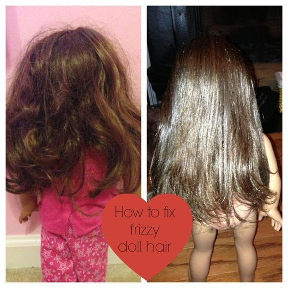 How I fixed my American Girl doll hair from frizzy hair to straight. **Disclaimer- I am not responsible for your doll's hair if it turns out in a way you don't like. And I believe American Girl probably doesn't recommend doing this to your doll's hair.